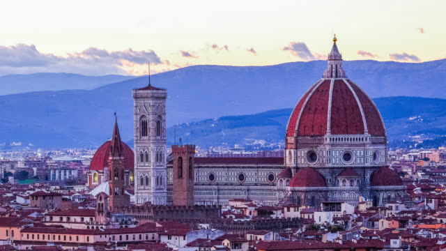 4K Time-lapse Sunset over Florence, Italy video