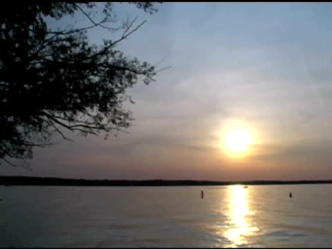 Timelapse Sunset with kayaks NTSC video