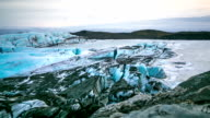 HD time-lapse: Svinafell Glacier national park, Iceland video