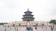 Time-lapse Temple of Heaven (Tiantan) in Beijing, China. video