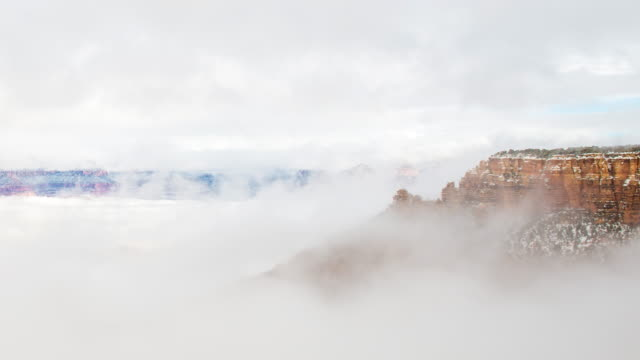 Time-lapse The Grand canyon national park in clouds video