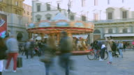 Time-lapse: The people shopping area in Florence, Italy video