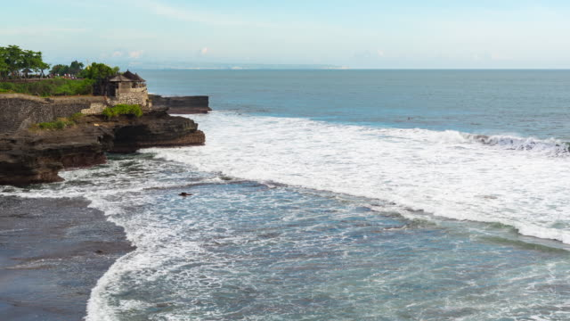 Timelapse : The Tanah Lot Temple, the most important hindu temple of Bali, Indonesia.Best Island award from Travel and Leisure video