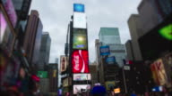 Timelapse Time Square New York City Manhattan at day video