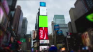 Timelapse Time Square New York City Manhattan Chromakey video