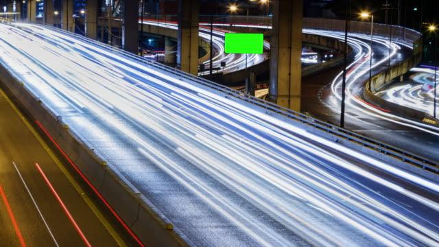 4K Timelapse (4096x2160) : TimeLapse of Highway Traffic Downtown in Bangkok Thailand video