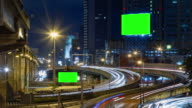4K Timelapse (4096x2160) : TimeLapse of Highway Traffic Downtown in Bangkok Thailand video