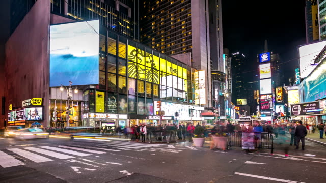 HD time-lapse: Times Square New York City at night video