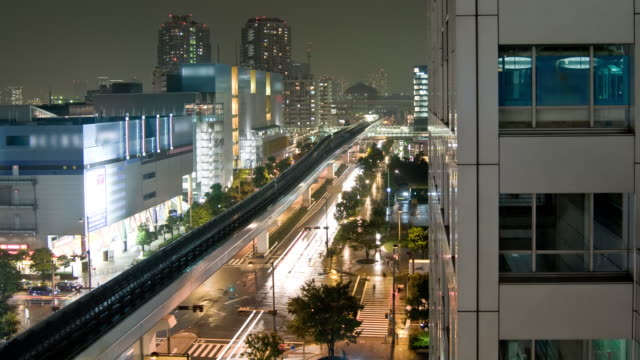 Timelapse - Tokyo cityscape with traffic & trams video