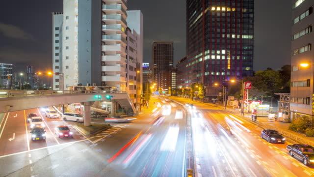 4K Time-lapse: Tokyo downtown Japan at dusk video