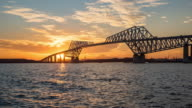 Time-lapse: Tokyo Gate Bridge Japan Sunset video