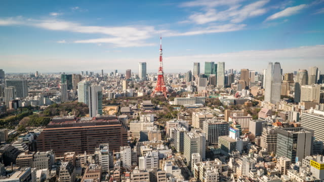 Time-lapse: Tokyo tower Cityscape Japan video