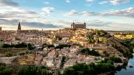 HD Timelapse: Toledo Cityscape at dusk Spain video