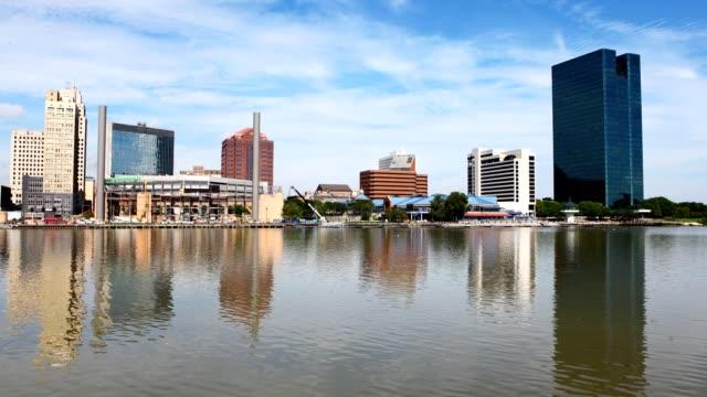 Timelapse Toledo, Ohio on a sunny day video