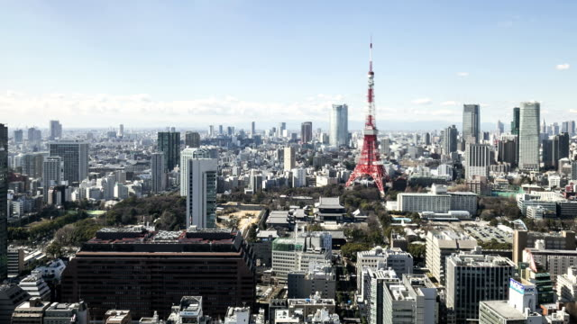 HD : Time-lapse top view skyscraper Tokyo city, Japan zoom out effect video