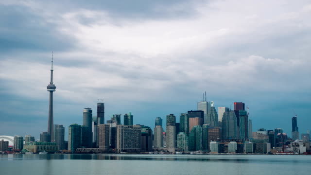 HD Time-lapse: Toronto Skyline Cityscapeat dusk Canada video