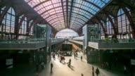 time-lapse: Tourist pedestrian travelling at Antwerp Central Station Belgium video