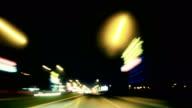 Timelapse Traffic at Night 4K video