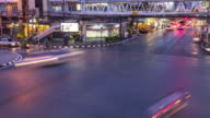 Timelapse: Traffic at night, Sudthisan Junction, Bangkok, Thailand video