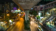 Timelapse: Traffic at night video