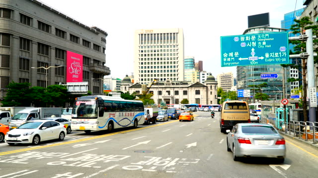 Time-lapse : Traffic at Seoul city video