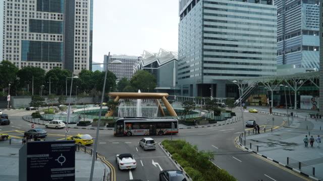 Time-lapse traffic at singapore video