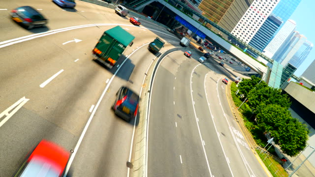 Time-lapse Traffic in hong kong city video