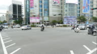 time-lapse traffic in Seoul City video