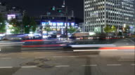 timelapse - traffic in Seoul City video