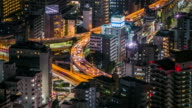 Timelapse traffic on highway in central of tokyo video