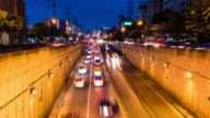 Time-Lapse: Traffic on tunnel at Sudthisan Junction, Bangkok, Thailand video