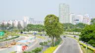 4K Timelapse: Traffic street car in Singapore city. video