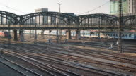 4K-UHD Time-Lapse : Trains on the moving under the bridge video