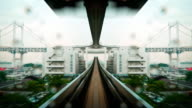 POV Timelapse - Tram speeding through Cityscape 1080p video
