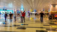 4K Time-Lapse: Traveler at Airport Arrival Terminal video