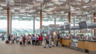 Time-Lapse: Traveler at Airport check-in counter Departure Terminal video