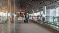 time-lapse: Traveler at Airport departure Terminal CDG Paris France video