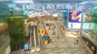 Time-Lapse: Traveler at Airport Departure Terminal video