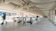 time-lapse: Traveler at Airport Terminal CDG Paris France video