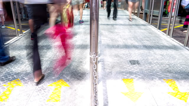 HD time-lapse: Traveler Crowd at China town Subway station Singapore video