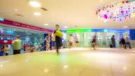 4K time-lapse: Traveler Crowd at Subway station in Singapore video