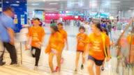 time-lapse: Traveler Crowd at Subway station in Singapore video