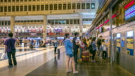 4K Time-Lapse:  Traveler Crowd at Taipei Main Station Taiwan video