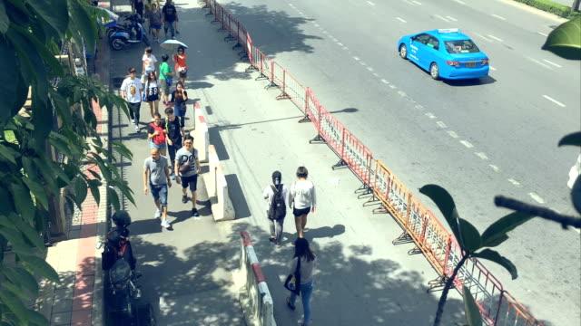 HD Time-lapse: Traveler Crowd Chatuchak weekend market video