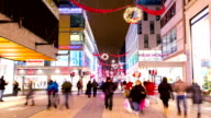 HD Time-lapse: Traveler Crowd Stockholm downtown at night video