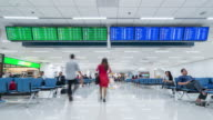 4K time-lapse: Traveler crowded at Airport Departure information board video