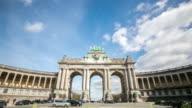 4K time-lapse: Triumphal Arch Cinquantenaire Parc Brussels Belgium video