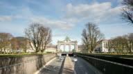 time-lapse: Triumphal Arch Cinquantenaire Parc Brussels Belgium video