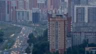Timelapse urban traffic. video