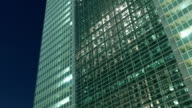 Timelapse variation of street illuminations in the modern business district of Tokyo. video